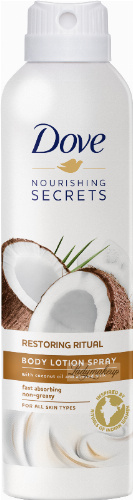 Dove - Nourishing Secrets - Restoring Ritual - Body Lotion Spray - Balsam do ciała w spray'u - Kokos i Mleko Migdałowe - 190 ml