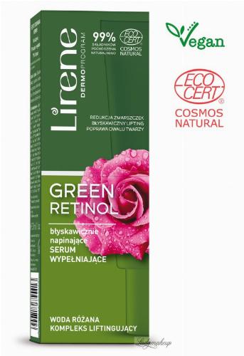 Lirene - GREEN RETINOL - Napinająco-wypełniające serum do twarzy - 30 ml