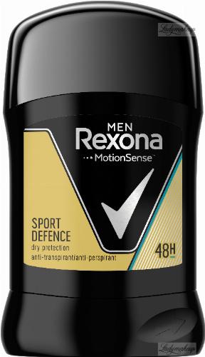 Rexona - Men - Sport Defence Dry Protection Anti-Perspirant 48H - Antyperspirant w sztyfcie dla mężczyzn - 50 ml
