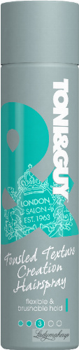 TONI&GUY - Tousled Texture Creation Hairspray - Lakier do włosów - Elastyczne Utrwalenie - 250 ml