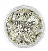 NeoNail - CHROME FLAKES EFFECT - Metallic nail foil