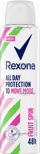 Rexona - All Day Protection to Move More Fruit Spin Anti-Perspirant - Antyperspirant w aerozolu - 150 ml