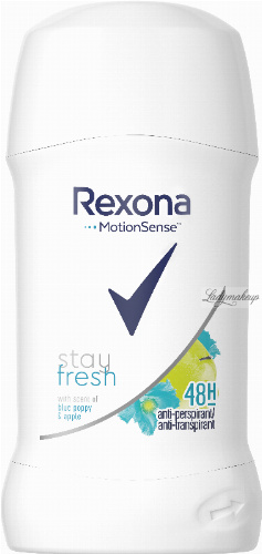Rexona - Stay Fresh Anti-Perspirant - Blue Poppy & Apple 48H - Antyperspirant w sztyfcie - 40 ml