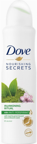 Dove - Nourishing Secrets - 48h Anti-Perspirant - Antyperspirant w aerozolu - Zielona Herbata Matcha & Wiśnia - 150 ml