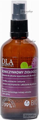 Kosmetyki Dla - KONICZYNKOWY ZIOŁOOCET - Płukanka do włosów wypadających dla kobiet - 100 g