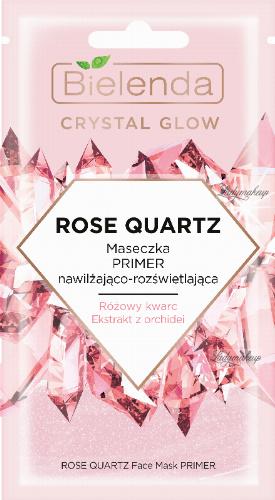 Bielenda - Crystal Glow - Rose Quartz Face Mask Primer - PRIMER moisturizing and brightening face mask - 8 g