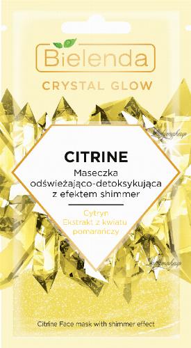 Bielenda - Crystal Glow - Citrine Face Mask with shimmer effect - Maseczka odświeżająco-detoksykująca z efektem shimmer do twarzy - 8 g