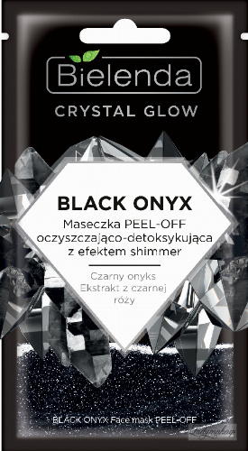 Bielenda - Crystal Glow - Black Onyx Face Mask PEEL-OFF - Cleansing and detoxifying PEEL-OFF mask with shimmer effect for the face - 8 g