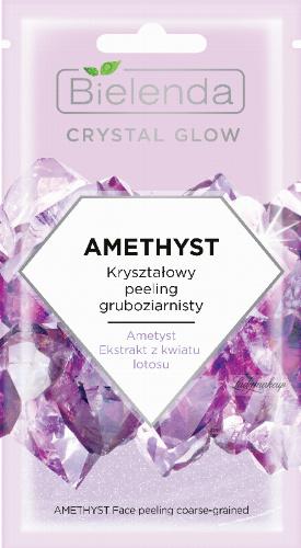 Bielenda - Crystal Glow - Amethyst Face Peeling coarse-grained - Crystal coarse face scrub - 8 g