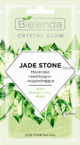 Bielenda - Crystal Glow - Jade Stone Face Mask - Moisturizing and smoothing face mask - 8 g