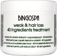 BINGOSPA - WEAK & HAIR LOSS 40 INGREDIENTS TREATMENT - Kuracja do włosów słabych i wypadających - 40 składników - 500 g