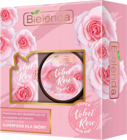 Bielenda - SUPER SKIN DIET VELVET ROSE - Gift set of body care cosmetics - Regenerating bath and shower oil 400 ml + Regenerating sugar peeling 350 g
