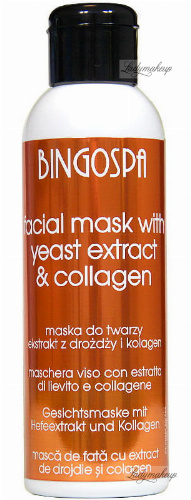 BINGOSPA - Face mask with beer yeast extract and collagen - 150g