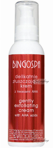BINGOSPA - Gently exfoliating cream with AHA acids for night use - 135g