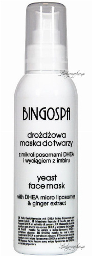 BINGOSPA - Yeast face mask with ginger extract - 150g