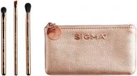 Sigma® - PETITE PERFECTION BRUSH SET - 3 MINI BRUSHES + BEAUTY BAG - Set of 3 mini eye make-up brushes + cosmetic bag
