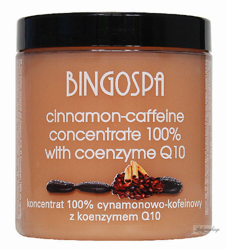 "BINGOSPA - Koncentrat 100% cynamonowo-kofeinowy z koenzymem Q10 do ""body wrappingu"" - 250g"