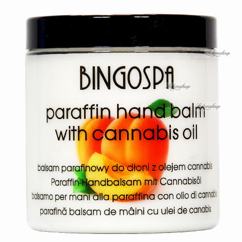 BINGOSPA - Paraffin hand lotion with cannabis oil and apricot - 250g