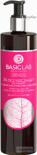 BASICLAB - MICELLIS - Face cleansing gel for couperose and sensitive skin (no soap) - 300 ml