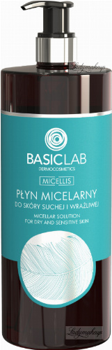 BASICLAB - MICELLIS - MICELLAR SOLUTION FOR DRY AND SENSITIVE SKIN - Micellar water for dry and sensitive skin - 500 ml