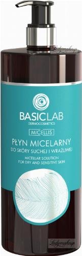 BASICLAB - MICELLIS - MICELLAR SOLUTION FOR DRY AND SENSITIVE SKIN - Micellar water for dry and sensitive skin - 500 ml
