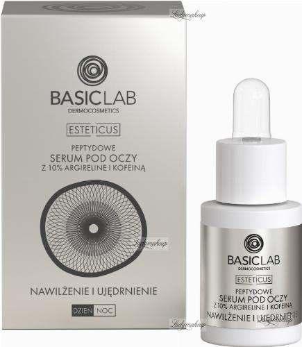 BASICLAB - ESTETICUS - Peptide eye serum with 10% argireline and caffeine- Moisturizing and firming - Day / Night - 15 ml