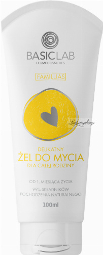 BASICLAB - FAMILLIAS - GENTLE CLEANSING GEL FOR THE WHOLE FAMILY - Gentle cleansing gel for the whole family - 100 ml