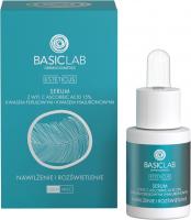 BASICLAB - ESTETICUS - Serum z wit. C ascorbic acid 15%, kwasem ferulowym i kwasem hialuronowym - Nawilżenie i rozświetlenie - Dzień/Noc - 15 ml