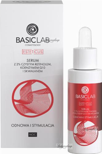 BASICLAB - ESTETICUS - Facial repair serum - Renewal and stimulation - Night - 30 ml