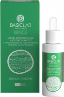 BASICLAB - ESTETICUS - Serum zmniejszające niedoskonałości z niacynamidem 5%, prebiotykiem 5% i filtrem z wody różowej - Redukcja i zwężenie - Dzień/Noc - 30 ml