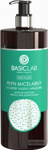 BASICLAB - MICELLIS - MICELLAR SOLUTION FOR OILY AND SENSITIVE SKIN - Micellar water for oily and sensitive skin - 500 ml