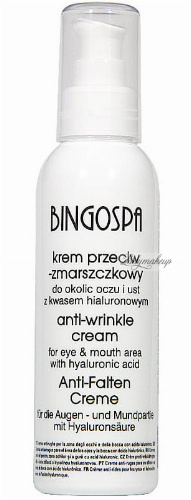 BINGOSPA - Anti-wrinkle eye and lip cream with hyaluronic acid - 135g