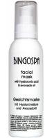 BINGOSPA - Facial Mask - Facial mask with hyaluronic acid and avocado oil - 150g
