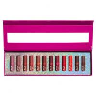 NYX Professional Makeup - DIAMONDS & ICE PLEASE! - MATTE LIP VAULT -  Zestaw prezentowy 12 matowych mini pomadek do ust - 01