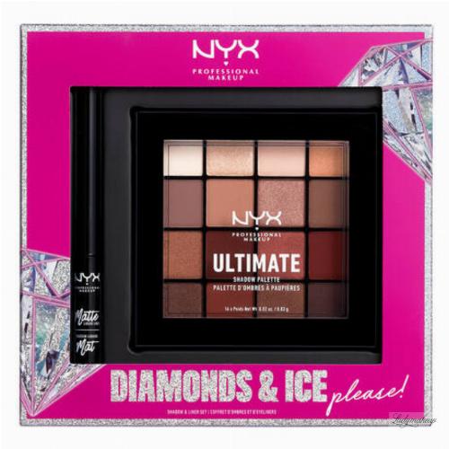 NYX Professional Makeup - DIAMONDS & ICE PLEASE! - SHADOW & LINER SET - Zestaw kosmetyków do makijażu oczu