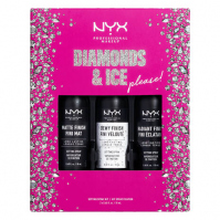 NYX Professional Makeup - DIAMONDS & ICE PLEASE! - SETTING SPRAY KIT - Zestaw prezentowy mgiełek do utrwalania makijażu - 3x18ml