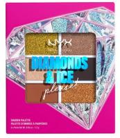 NYX Professional Makeup - DIAMONDS & ICE PLEASE! - SHADOW PALETTE - Palette of 6 eyeshadows - 03W JEWELED & JADED