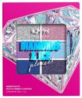 NYX Professional Makeup - DIAMONDS & ICE PLEASE! - SHADOW PALETTE - Paleta 6 cieni do powiek - 01W SKY GEMS