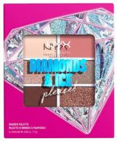 NYX Professional Makeup - DIAMONDS & ICE PLEASE! - SHADOW PALETTE - Palette of 6 eyeshadows - 02W DIAMOND DELIRIOUS