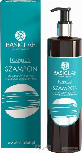 BASICLAB - CAPILLUS - Szampon do włosów tłustych - 300 ml