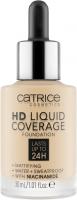 Catrice - HD LIQUID COVERAGE FOUNDATION - Wodoodporny podkład kryjący do twarzy - 30 ml - 005 - IVORY BEIGE - 005 - IVORY BEIGE