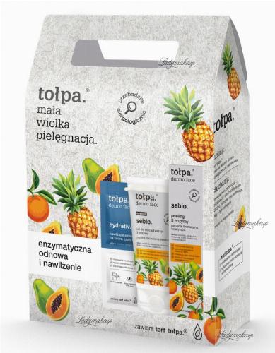 Tołpa - Sebio - Zestaw do pielęgnacji twarzy - Peeling 40 ml + Żel do mycia twarzy 150 ml + Maska-kompres 2 x 6 ml