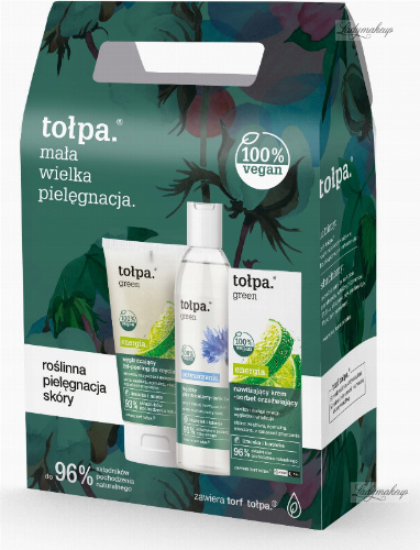 Tołpa - Green Energy - Face care kit - Micellar 2in1 tonic 200 ml + Face cleansing gel 150 ml + Cream sorbet 50 ml