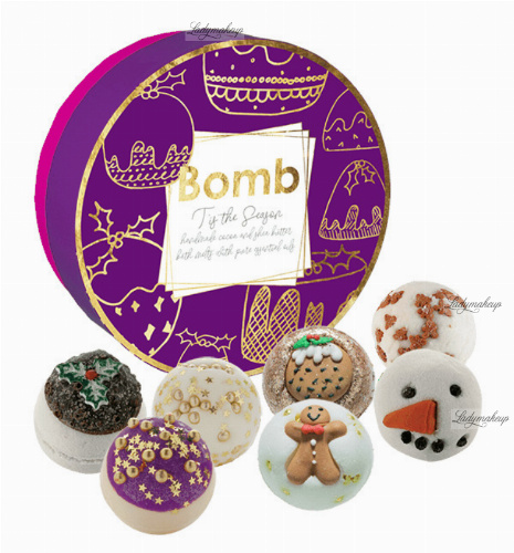 Bomb Cosmetics - T'is the Season Gift Pack - Gift set with natural bath cosmetics - Sweet Christmas