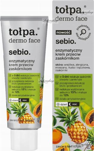 Tołpa - Dermo Face Sebio - Enzymatyczny krem przeciw zaskórnikom - 40 ml