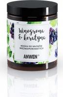 ANWEN - Winogrona & Keratyna - Maska do włosów średnioporowatych - 180 ml