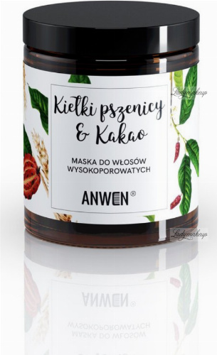 ANWEN - Wheat Sprouts & Cocoa - Mask for high porosity hair - 180 ml