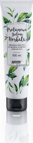 ANWEN - Proteinowa Zielona Herbata - Wegańska odżywka do włosów o średniej porowatości - 100 ml