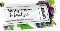 ANWEN - Winogrona & Keratyna - Maska do włosów średnioporowatych - 10 ml