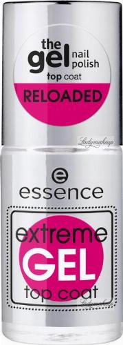 Essence - Extreme GEL Top Coat - Żelowy lakier nawierzchniowy do paznokci - 8 ml